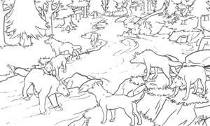 forest-LINE ART by akireru