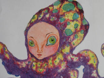 Close up of Octo Girl by LittleInkStain