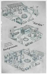 Background - Garden by RedLittleHouse