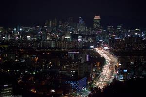 Seoul Gangnam Skyline by Night by ChristophGerlach