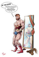 Male Superheroes See How The Other Side Lives by StevenHoward