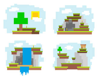 4 Minecraft Tiles by spacedragon42