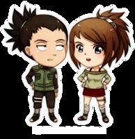 Commisssion Shikamaru and Chiaku by lightshelter