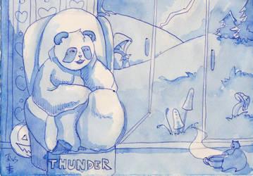 Inktober 27 Thunder by Soukyan