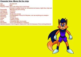 Momo the fox ninja by Bluegirl123456