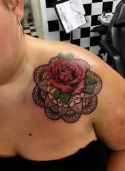 Rose and mandala  by Shadow3217