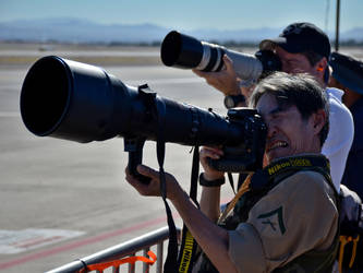 Man With the Giant Lens by pdelariva