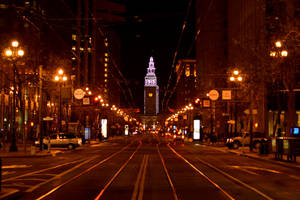 Looking Down Market Street by pdelariva