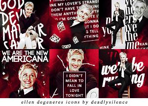 Ellen DeGeneres Icons by deadlysilence16