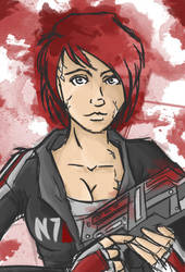 Shepard sketch - Mass Effect by LadyAstrogah