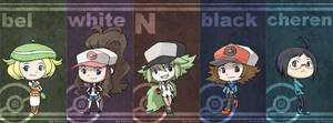 Pokemon Black and White Chibis by rsx0806