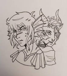 Mizuchi and Draco by King-Itachi