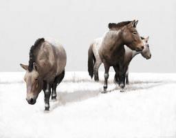 Ice Age horses by Renum63