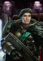 Captain Ban Daur of the Tanith First and Only by DavidSondered