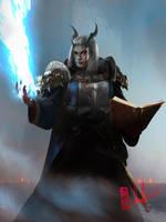 Commission - Bacchus, Dragonborne War Cleric by DavidSondered