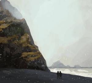 Frozen Beach by SaskiaDeKorte
