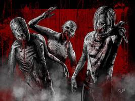 Zombies by SamDenmarkArt