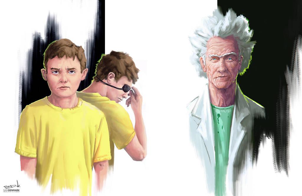 Rick and Morty by SamDenmarkArt