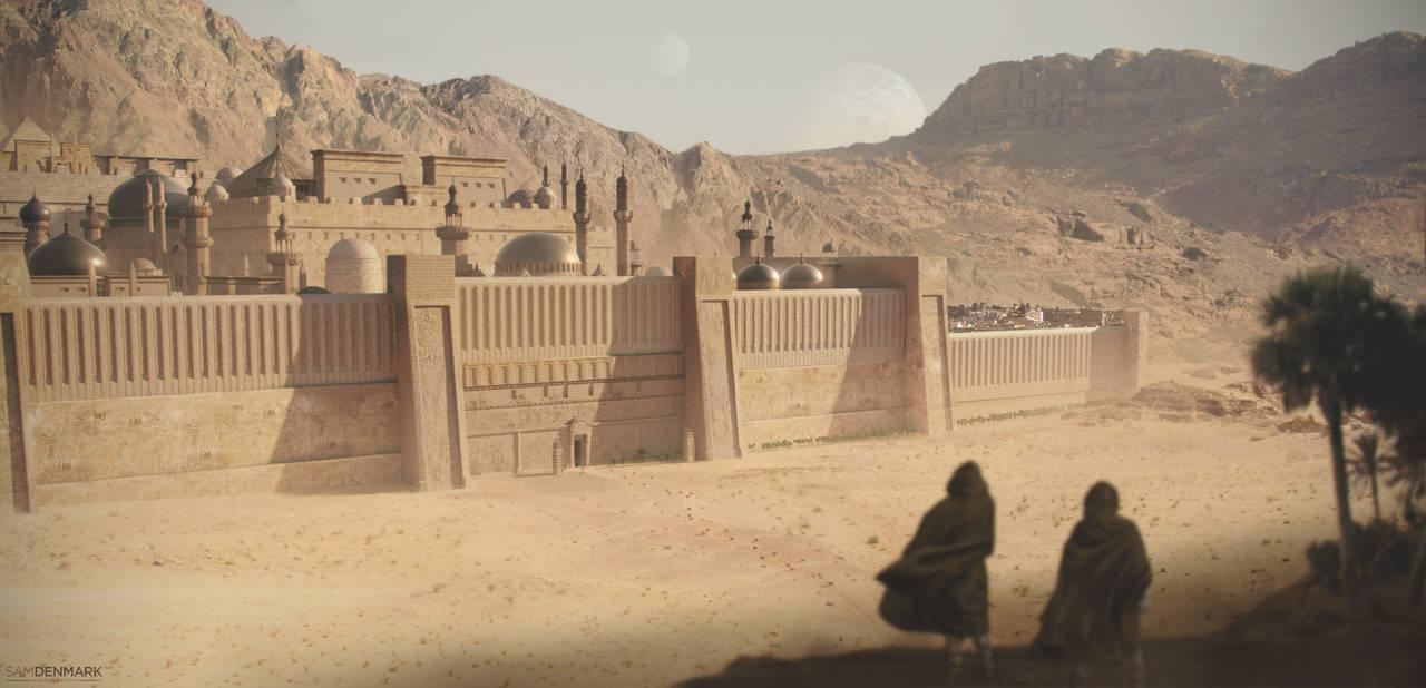 Desert City by SamDenmarkArt