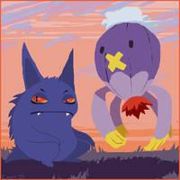 Ghosteymons by HedgehogBeeblebrox