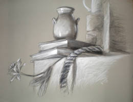 chalk and charcoal still life by reeses98424