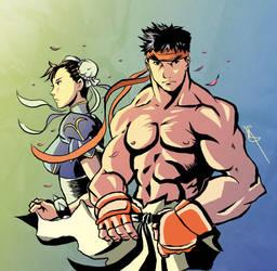 Street Fighter Sketch by badokami