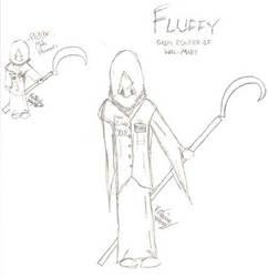 Fluffy, Grim Reaper of WalMart by SpiritWolf72
