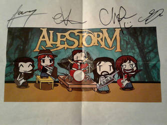 Walfas Custom - Alestorm (SIGNED BY THE BAND!) by Gii828