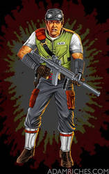 G.I. Joe Cross-Country figure packaging art 1 by AdamRiches