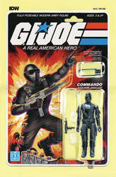 G.I. Joe ARAH #219 Snake Eyes toy comic cover IDW by AdamRiches