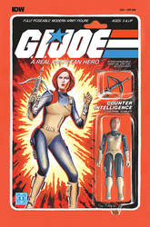 G.I. Joe ARAH #221 Scarlett toy comic cover IDW by AdamRiches