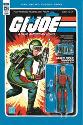 G.I. Joe ARAH #224 Flash toy comic cover IDW by AdamRiches