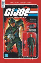 G.I. Joe ARAH #225 Grunt toy comic cover IDW by AdamRiches
