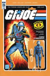 G.I. Joe ARAH #226 Cobra Commander toy comic cover by AdamRiches