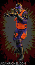 G.I. Joe Night Vulture Toy Packaging Illustration by AdamRiches