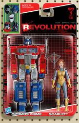 IDW Revolution Optimus Prime Scarlett toy cover #1 by AdamRiches