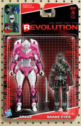 IDW Revolution Arcee Snake Eyes toy cover #4 by AdamRiches