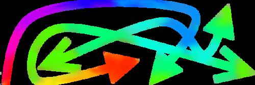 Psychodelic Arrows by PaintedPlanets
