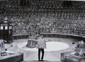 Asylum of The Daleks by Evulee