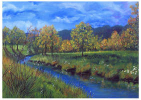 Autumn Day - acrylic painting by Giselle-M