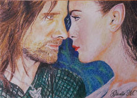 Long Years have Passed - watercolor - fan art by Giselle-M