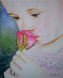 Sweet Rose - watercolor by Giselle-M