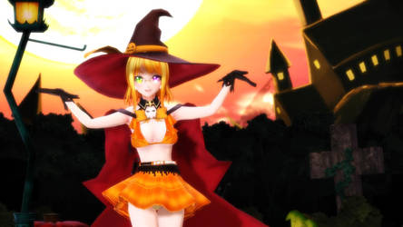 Nitthra Witch Halloween by ChrisMMD