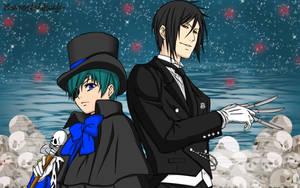 Kroshitsuji - Ciel and Sebastian Wallpaper by ng9