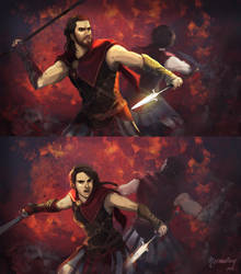 Alexios/Kassandra by nermallion