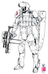 Alley Viper G.I. Joe -Fastfood- Egli - 3 Hr. Inks by SurfTiki