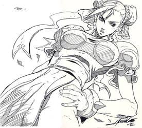 Chun-Li Street Fighter inked - Alvin Lee - Egli by SurfTiki