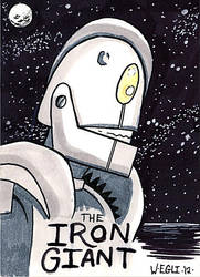 Iron Giant ACEO Sketch card by SurfTiki