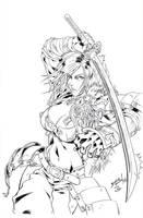Kurenai Samurai Chick Inks - Gunawan - Egli by SurfTiki