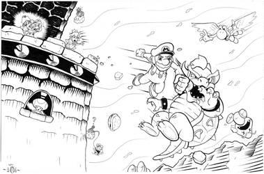Mario Vs Bowser FINAL FIGHT - EGLI - Inks by SurfTiki